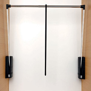 Servetto garderobelift zwart