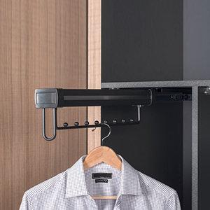 Uittrekbare kledinghanger, antraciet