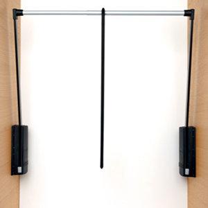Servetto garderobelift zwart/zilver