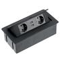 Flip-Top-inbouw-stopcontacten-2-stopcontacten-2-USB-randaarding-zwart-(NL)